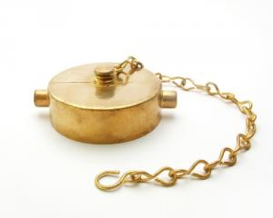 Brass Cap with Chain